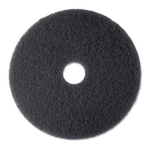3M High Productivity Floor Pad 7300  17  Diameter  Black  5 Carton (MCO 08275)
