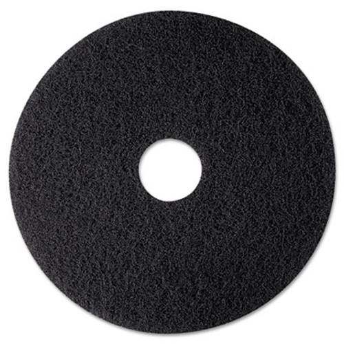 3M High Productivity Floor Pad 7300  12  Diameter  Black  5 Carton (MCO 08270)