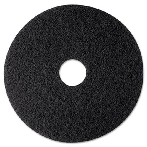 3M High Productivity Floor Pad 7300  12  Diameter  Black  5 Carton (MCO 08270)