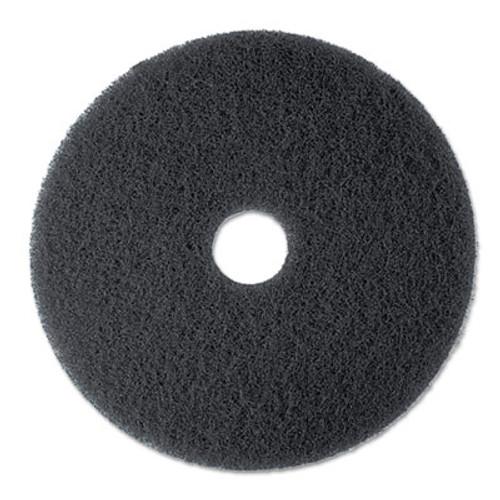 3M High Productivity Floor Pad 7300  20  Diameter  Black  5 Carton (MCO 08278)