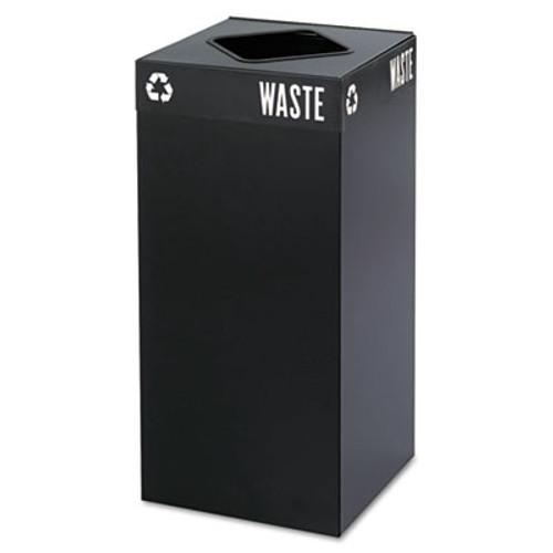 Safco Public Square Trash Container  Square  Steel  31 gal  Black (SAF2982BL)