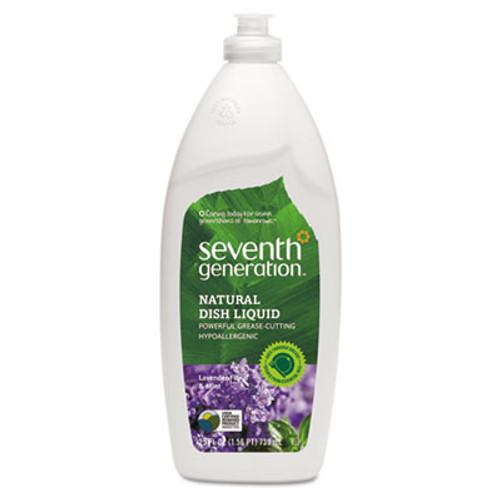 Seventh Generation Natural Dishwashing Liquid  Lavender Floral and Mint  25 oz Bottle  12 Carton (SEV 22734)