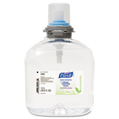 PURELL Advanced Hand Sanitizer Green Certified TFX Foam Refill  1200 mL  Clear  2 Carton (GOJ 5391-02)