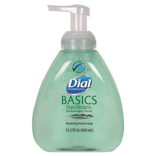 Dial Professional Basics Foaming Hand Soap, Original, Honeysuckle, 15.2 oz Pump Bottle, 4/Carton (DIA 98609)