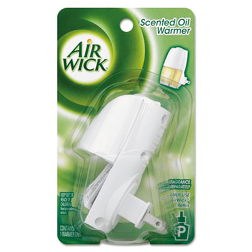 Air Wick Scented Oil Warmer  1 75  x 2 69  x 3 63   White Gray  6 Carton (REC 78046)