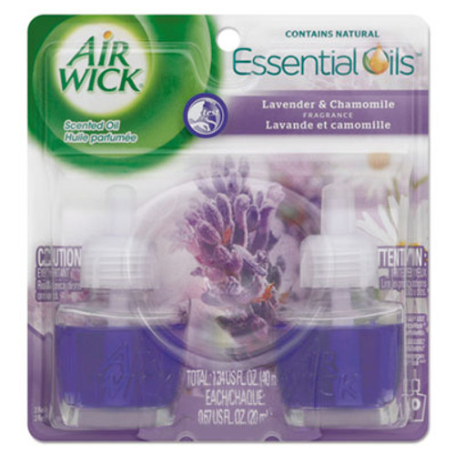 Air Wick Scented Oil Refill  Lavender   Chamomile  0 67oz  Purple  2 Pack (REC 78473)