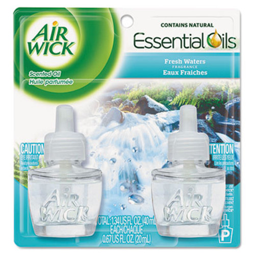 Air Wick Scented Oil Refill  Fresh Waters  0 67 oz  2 Pack  6 Pack Carton (REC 79717)