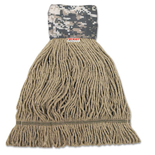 Boardwalk Patriot Looped End Wide Band Mop Head  Medium  Green Brown  12 Carton (UNS 8200M)