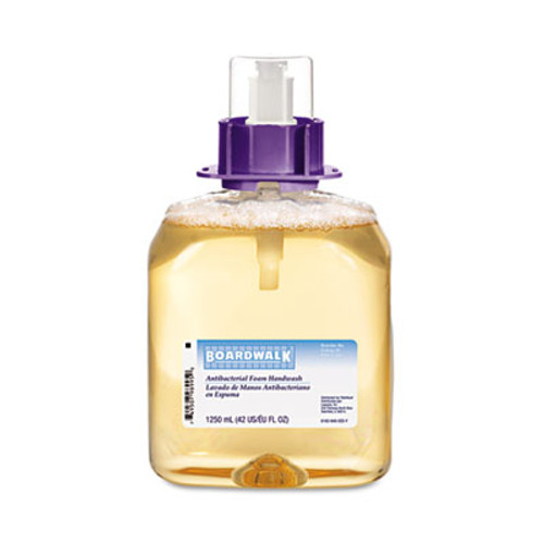 Boardwalk Foam Antibacterial Handwash, Fruity, 1250mL Refill, 4/Carton (BWK 8300)