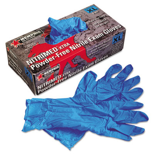 "MCRâ""¢ Safety Nitri-Med Disposable Nitrile Gloves, Blue, X-Large, 100/Box (MPG 6012XL)"