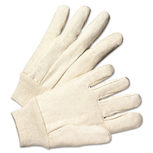 Anchor Brand Light-Duty Canvas Gloves, White, 12 Pairs (ANR1110)