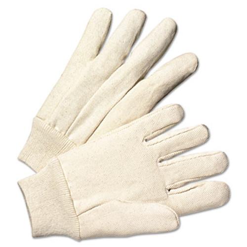 Anchor Brand Light-Duty Canvas Gloves  White  Dozen (ANR1110)