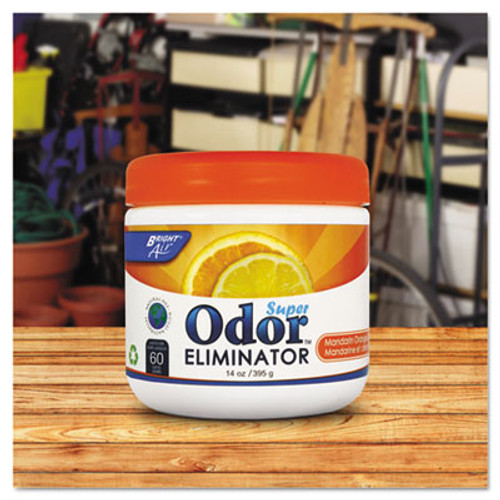 BRIGHT Air Super Odor Eliminator  Mandarin Orange and Fresh Lemon  14 oz  6 Carton (BRI 900013)