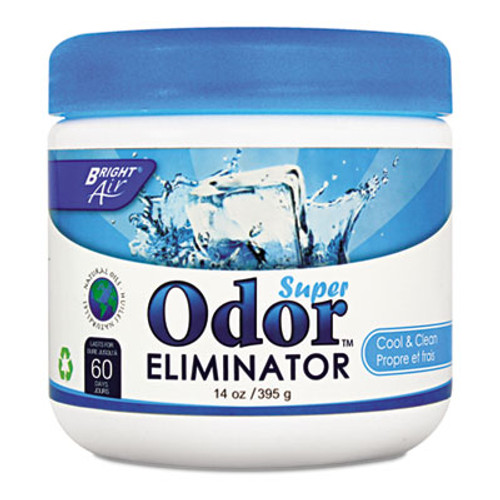 BRIGHT Air Super Odor Eliminator, Cool and Clean, Blue, 14oz, 6/Carton (BRI 900090)