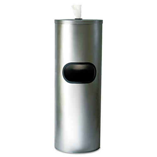 2XL Standing Stainless Wipes Dispener  Cylindrical  5gal  Stainless Steel (TXL L65)
