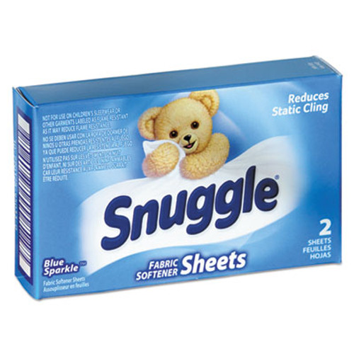 Snuggle Vend-Design Fabric Softener Sheets  Blue Sparkle  2 Sheets Box  100 Boxes Carton (VEN 2979929)