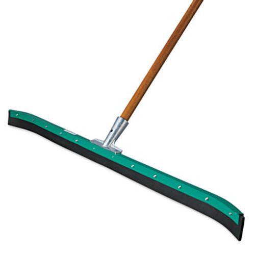"Unger AquaDozer Curved Floor Squeegee, 36"" Wide Blade, Black Rubber, Insert Socket (UNG FP90C)"