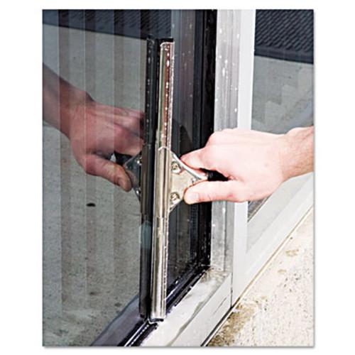 Unger Pro Stainless Steel Window Squeegee  18  Wide Blade  Black Rubber (UNG PR45)