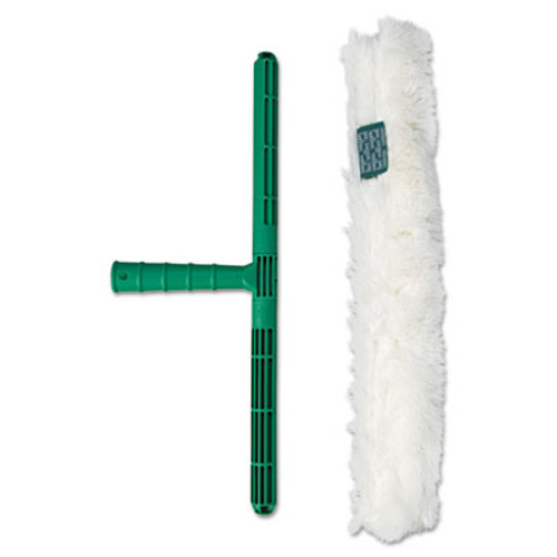 Unger Original Strip Washer with Green Nylon Handle  White Cloth Sleeve  18 Inches (UNG WC450)