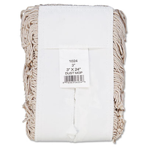 Boardwalk Mop Head, Dust, Cotton, 24 x 3, White (UNS 1024)