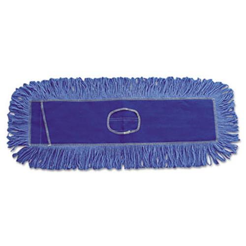 Boardwalk Mop Head  Dust  Looped-End  Cotton Synthetic Fibers  18 x 5  Blue (UNS 1118)