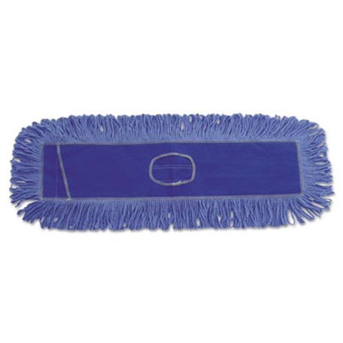 Boardwalk Mop Head  Dust  Looped-End  Cotton Synthetic Fibers  24 x 5  Blue (UNS 1124)
