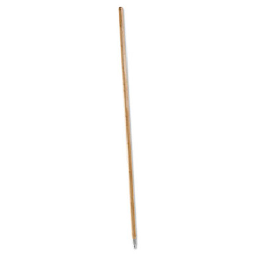 Boardwalk Metal Tip Threaded Hardwood Broom Handle  1 1 8 dia x 60  Natural (BWK 138)