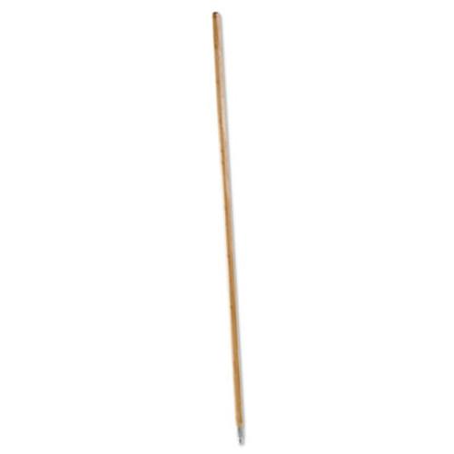 Boardwalk Metal Tip Threaded Hardwood Broom Handle  1 1 8 dia x 60  Natural (BWK 138)