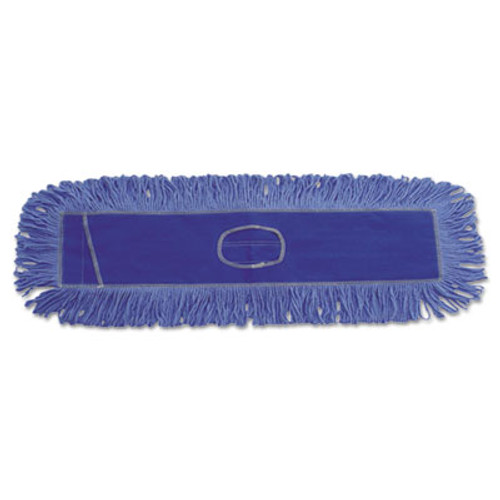 Boardwalk Dust Mop Head, Cotton/Synthetic Blend, 36 x 5, Looped-End, Blue (UNS 1136)