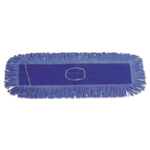 Boardwalk Dust Mop Head  Cotton Synthetic Blend  36 x 5  Looped-End  Blue (UNS 1136)