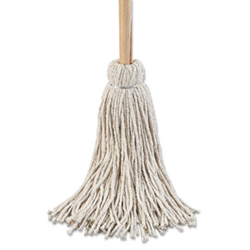 Boardwalk Deck Mop  54  Wooden Handle  24oz Cotton Fiber Head  6 Pack (UNS 124C)