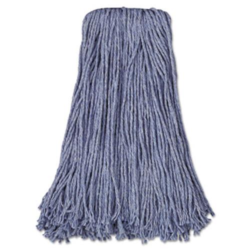 Boardwalk Mop Head  Standard Head  Cotton Synthetic Fiber  Cut-End   24  Blue  12 Carton (UNS 2024B)