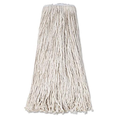 Boardwalk Mop Head  Premium Standard Head  Cotton Fiber  32oz  White  12 Carton (UNS 232C)