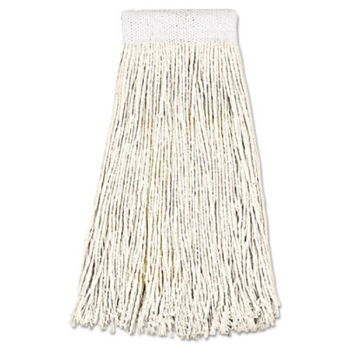 Boardwalk Mop Head  Premium Saddleback Head  Cotton Fiber  24oz  White  12 Carton (UNS 324C)