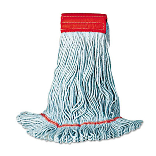 Boardwalk Mop Head  Premium Standard Head  Cotton Rayon Fiber  Medium  Blue  12 Carton (UNS 402BL)