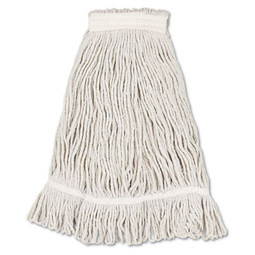 Boardwalk Mop Head  Loop Web Tailband  Value Standard  Cotton  No  32  White  12 Carton (UNS 4032C)