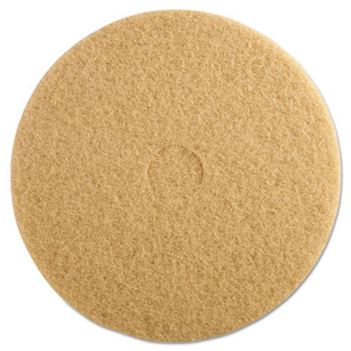 "3M Ultra High-Speed Floor Burnishing Pads 3400, 20"" dia, Tan, 5/Carton (MCO 05606)"