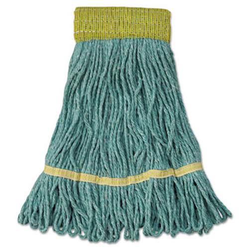 Boardwalk Super Loop Wet Mop Head  Cotton Synthetic Fiber  5  Headband  Small Size  Green  12 Carton (UNS 501GN)