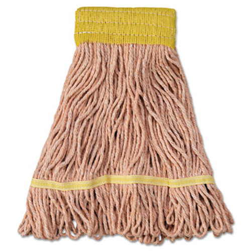 Boardwalk Super Loop Wet Mop Head  Cotton Synthetic Fiber  5  Headband  Small Size  Orange  12 Carton (UNS 501OR)