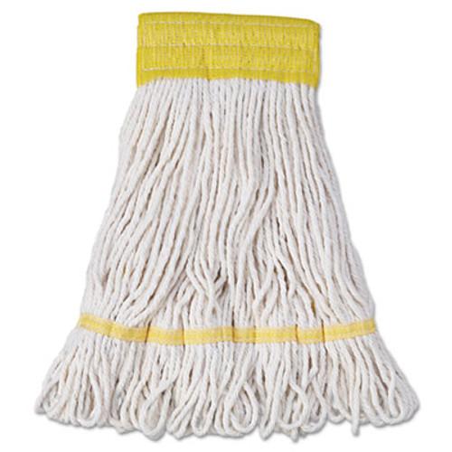 Boardwalk Super Loop Wet Mop Head  Cotton Synthetic Fiber  5  Headband  Small Size  White  12 Carton (UNS 501WH)