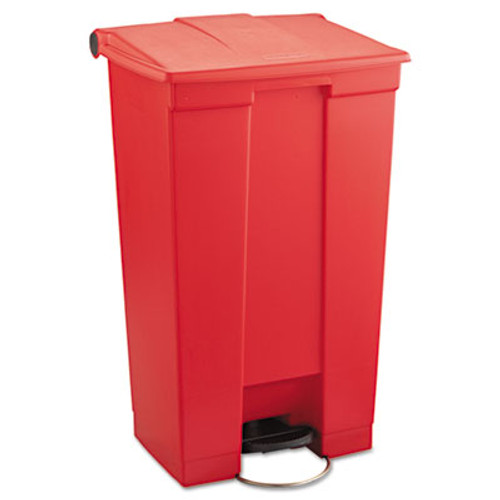 Rubbermaid Commercial Indoor Utility Step-On Waste Container  Rectangular  Plastic  23 gal  Red (RCP 6146 RED)