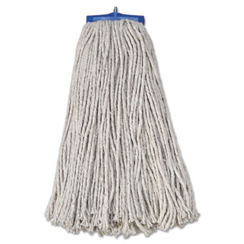 Boardwalk Mop Head  Economical Lie-Flat Head  Cotton Fiber  20oz  White  12 Carton (UNS 720C)