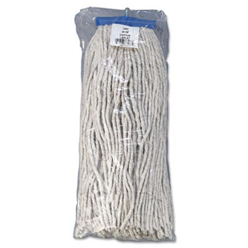 Boardwalk Mop Head  Economical Lie-Flat Head  Cotton Fiber  20oz  White  12 Carton (UNS 720C)
