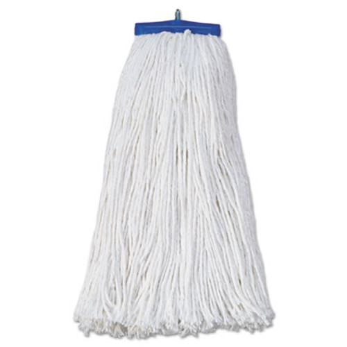 Boardwalk Mop Head  Economical Lie-Flat Head  Rayon Fiber  20oz  White  12 Carton (UNS 720R)
