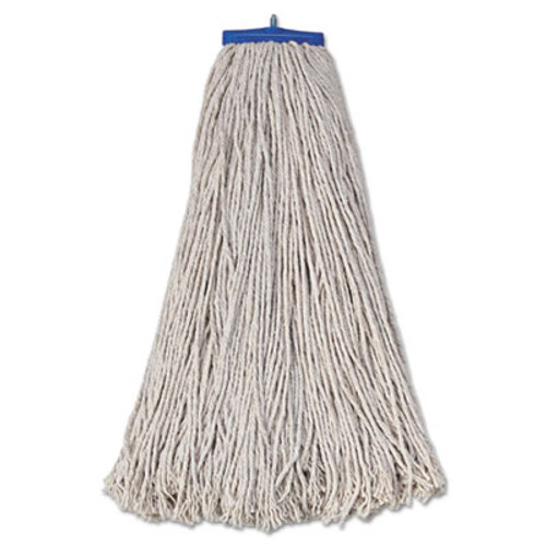 Boardwalk Mop Head  Economical Lie-Flat Head  Cotton Fiber  32oz  White  12 Carton (UNS 732C)
