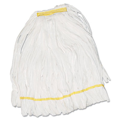 Boardwalk Mop Head  Looped  Enviro Clean With Tailband  Medium  White  12 Carton (UNS 8002)