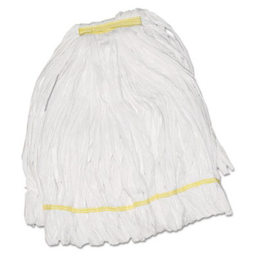 Boardwalk Mop Head  Looped  Enviro Clean With Tailband  Large  White  12 Carton (UNS 8003)