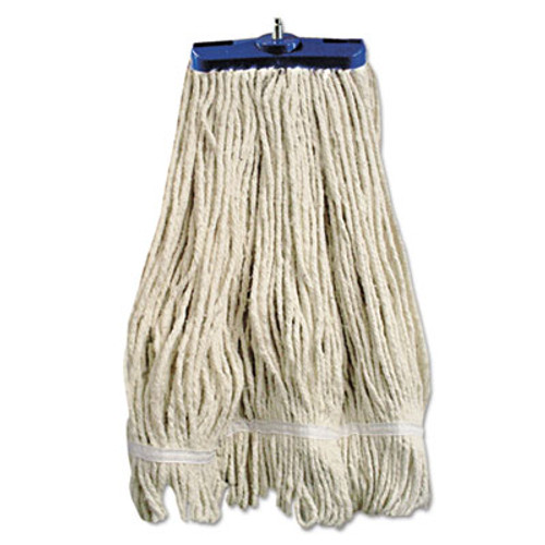 Boardwalk Mop Head  Lie-Flat Head  Cotton Fiber  24oz  White  12 Carton (UNS 824C)