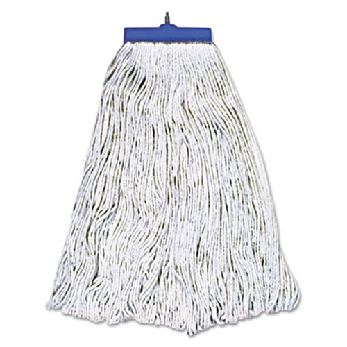 Boardwalk Mop Head, Lie-Flat Head, Rayon Fiber, 24oz, White, 12/Carton (UNS 824R)