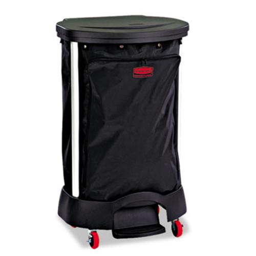 Rubbermaid Commercial Premium Step-On Linen Hamper Bag  30 gal  13 38w x 19 88d x 29 25h  Nylon  Black (RCP 6350 BLA)